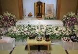 自宅葬の生花祭壇