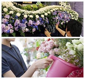 生花祭壇の写真